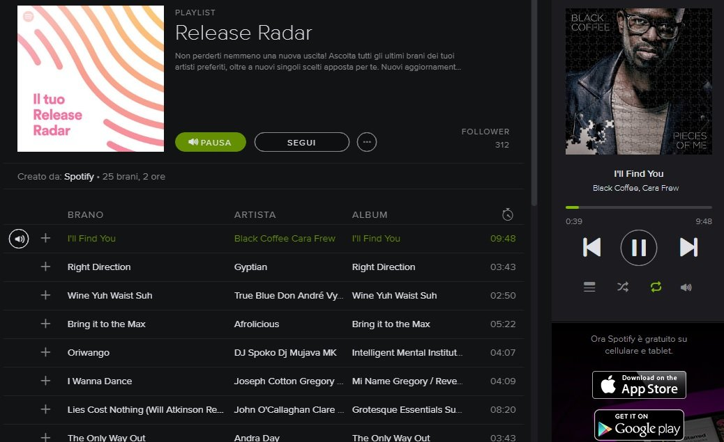 how to find release radar on spotify
