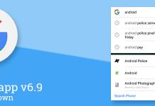 google app 6.9 beta