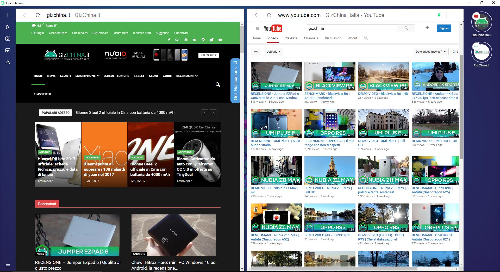 Opera presenta Neon, un nuovo concetto di browser