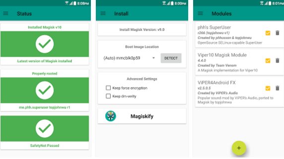 magisk root android nougat marshmallow systemless
